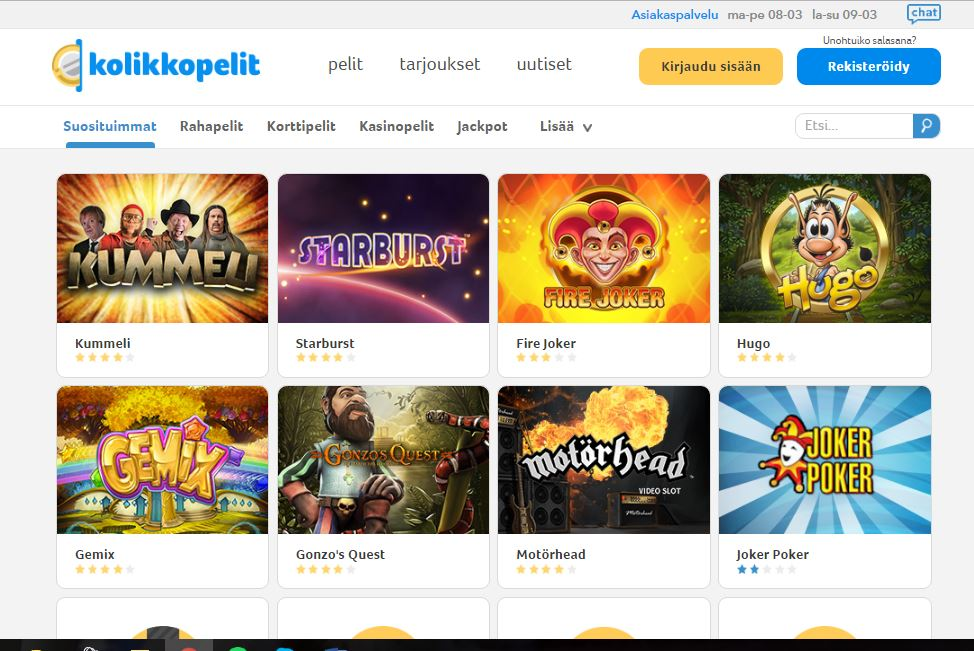 kolikkopelit screenshot