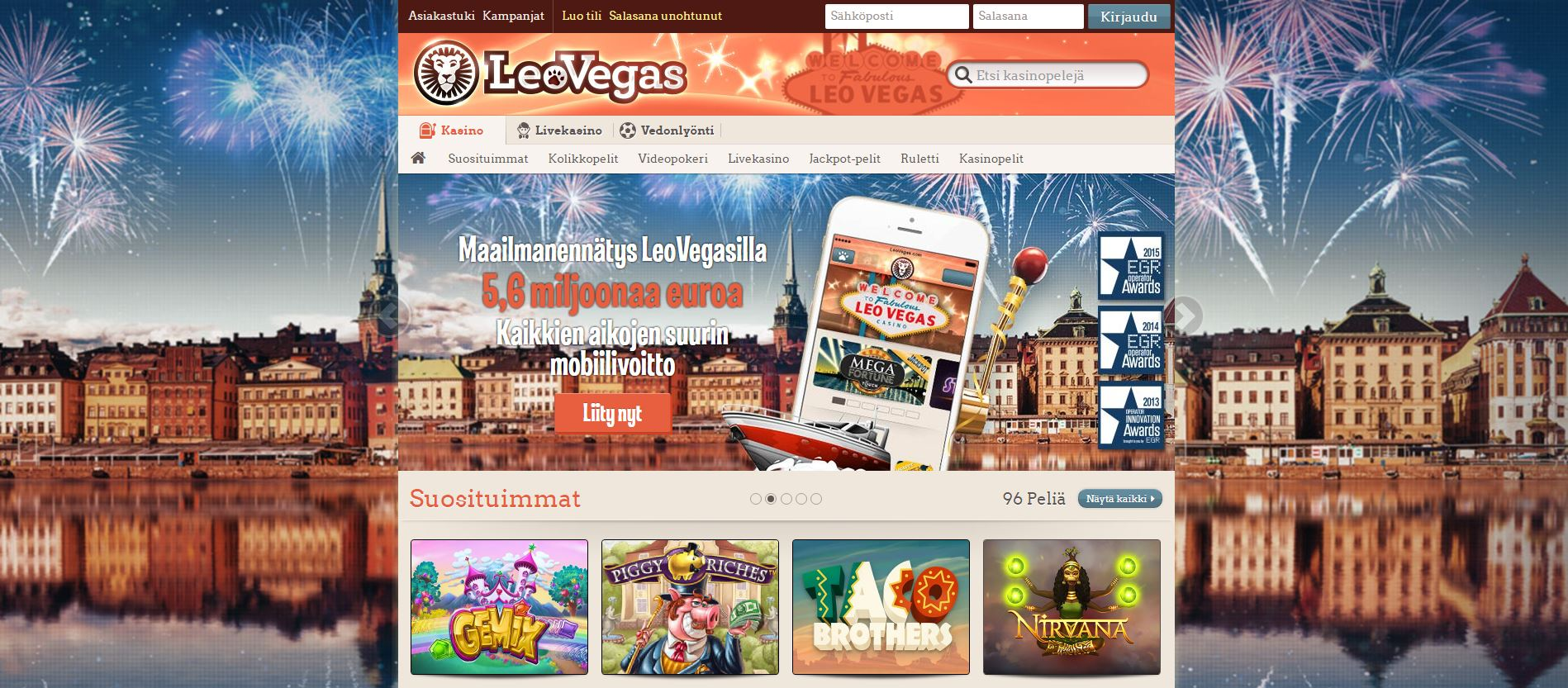 leovegas front page